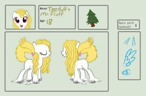 TreeFluff and Mr.Whisker Ref Sheet by nubblebubble123