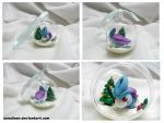 Suicune Christmas Ornament by Swadloon