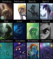 Art summary 2012- Ponies edition by Raikoh-illust