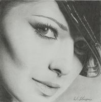 Portrait of Cheryl Cole by WStanganini