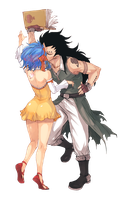 Livy and Gajeel (Fairy Tail) Render by HoneyBuggys