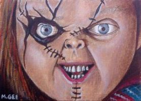 Chucky - ACEO by mikegee777