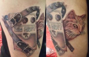 Cats and Collars Tattoo by Klyde-Chroma