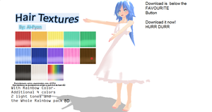 MMD: Rainbow Hair Textures by AI-Pyon