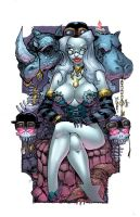steampunk lady death by rantz-d7x02vo Colors LowRe by HeagSta