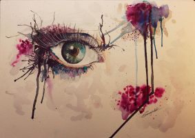 Aquarell Eye by Sajana25