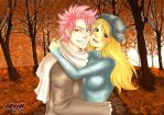 Commission: Autumn - Natsu x Lucy by iamAsami