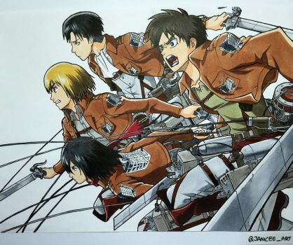 Attack on titan by Janiceeart