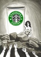 Starbucks Worship by twiggzzler