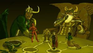 Harryhausen tribute - Clash of the Asgardians by Nick-Perks