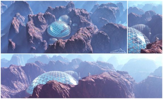 The Crater Base by 3DLandscapeArtist