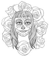 Day of the Dead tshirt by LazyGreen