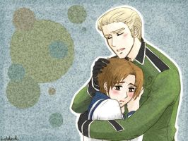 Hetalia fanart - GermanyxItaly by Heldrad
