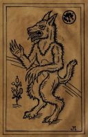 Werewolf Woodcut by JasonMcKittrick