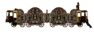 Steampunk Train by mysticmorning