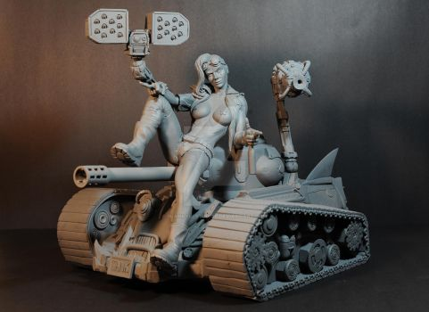 A Girl and her TANK!! by seankylestudios