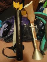 Gaston's quiver and gun by TheSpazOutLoud