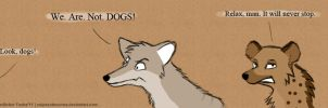Not dogs by VulpesObscurus