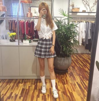 School Girl (tied blouse style ootd) by lovemeans