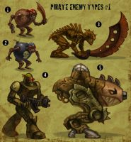 Pirate enemy types 1 by ZombPunk