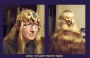 Twilight Princess Zelda Tiara by kojika