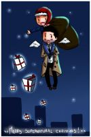 Wish you a Supernatural X-mas by Leyhena