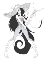 Marceline lineart by TreyBarks