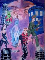 Farscape / Dr Who commission by danablackarts