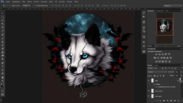 :.Early Winter WIP.: by WhiteSpiritWolf