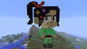 Vanellope in Minecraft by superslinger2007
