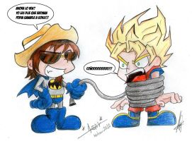 Dross VS Goku by kotani2010