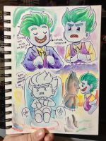 Lego Joker Sketches by AlexisRoyce