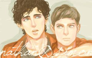 Misfits : Nathan + Simon by beautiful-burnout