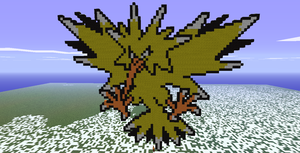 Minecraft- Zapdos Again by aprilgoddess
