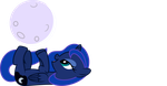Luna Filly playing with the Moon by imageconstructor