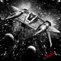 Buck Rodgers Star Fighter by SimonArtGuyBreeze