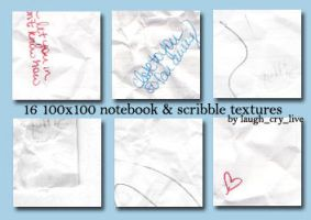 100x100 note-scribble textures by laughcrylive