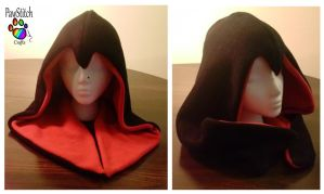 Red Assassin Hood by CalicoSarah