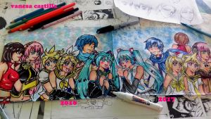 vocaloid before and after, a big difference by queencastilla