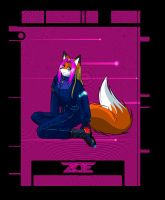 Finished version zoe sits by Foxxie-Angel