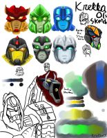 Random Bionicle TFA sketches by Krekka01