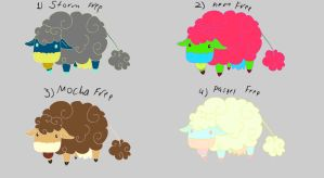 Cloudcow free adoptables set 2 SOLD by Feendra13