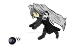 Little Sephy and Black Materia by Wojskowa