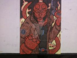 HELLBOY SKETCH CARD by shawncomicart