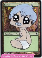 Altered Magic Card: Chibi Baby by JessWells