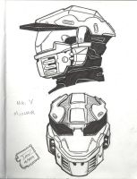 Mark V Mjolnir helmet by raMbo1911
