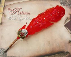 The ARTISAN Winged Enchantment Feather Quill Pen by ChaeyAhne