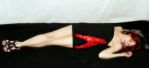 Red Lace and Rock and roll heels by laylassong
