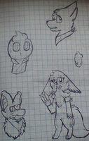 TPWT sketches by LuckyZorua