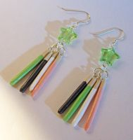 Lucky Star Pocky Earrings by egyptianruin